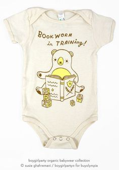 A perfect gift for a literate family, a book-themed baby shower, or any baby you'd like to encourage to love books!