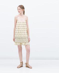 Image 1 de ROBE AVEC SUPERPOSITION de Zara