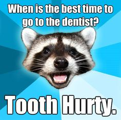 Uh oh if their tooth is hurting, they should go to the dentist! Lame jokes