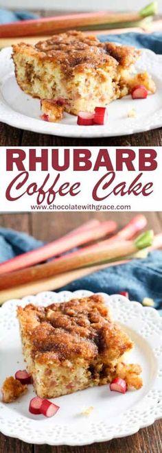 Double Crumb Rhubarb Coffee Cake Breakfast And Brunch, Breakfast Cake, Brunch Recipes, Sweet Recipes, Breakfast Recipes, Dessert Recipes, Brunch Ideas, Cake Recipes, Easter Recipes