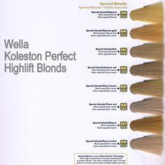 Wella koleston perfect highlift blonds