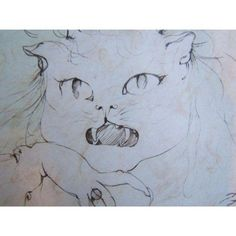 French Cat by Leonor Fini Big Cats, Cats And Kittens, Art Uk, Boom Boom, Book Illustration, Cat Art, Modern Art, Museum, French