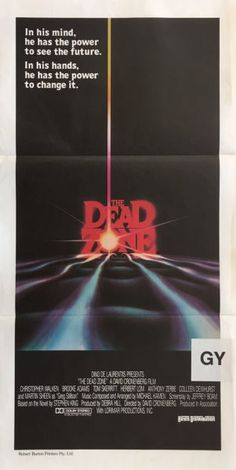 The Dead Zone original 1983 Australian/NZ Daybill movie poster. Available for purchase from our website.