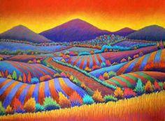 """""""Sky and Fields Ablaze"""" - by Daryl V. Storrs"""