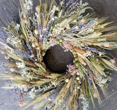 Romantic Primitive Fall Wreath Meadow by BusyBeasBoutique on Etsy