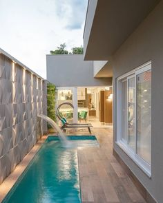 65 trending small pool designs for your backyard 74 ~ Home Design Ideas Small Backyard Pools, Backyard Pool Designs, Small Pools, Swimming Pools Backyard, Swimming Pool Designs, Piscina Rectangular, Kleiner Pool Design, Small Pool Design, Farmhouse Style