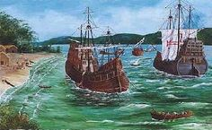 """Sabaia"" Portuguese nau from century, one of the first European ships to sail to the Indonesian islands. Portuguese Empire, Portuguese Language, Learn Portuguese, Conquistador, Model Ships, 15th Century, Water Crafts, Continents, Sailing Ships"