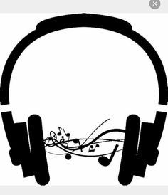 music notes coming from headphones Music Silhouette, Silhouette Cameo, Music Notes, Headphones, Tattoos, Bible Verses, Rave, Quotes, Ideas