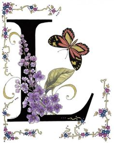 Lilac And Large Tiger Butterfly Print By Constance Widen