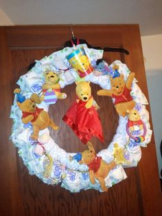 Winnie the Pooh Diaper Wreath