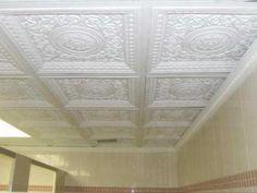 Drop Ceiling Decorative Tiles Prepossessing Diy Drop In And Glue Up Plastic Faux Tin Ceiling Tiles Model Design Ideas