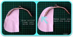 tutorial purse frame