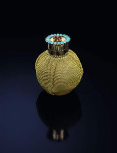 A gold, ruby, turquoise and diamond purse, belonging to Wallis Simpson