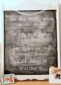 mirror to chalkboard