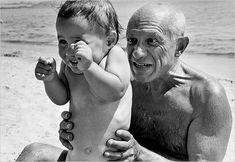 Robert Capa/Magnum Photos  Pablo Picasso, 66, with his son Claude.