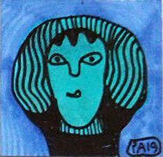 Die letzte von fünf Zeichnungen eines Leporello 9x9 cm von Pierre Albasser. All Over The World, The Outsiders, Disney Characters, Fictional Characters, Studios, Aurora Sleeping Beauty, Disney Princess, Art, Stone