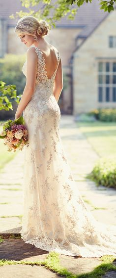 wedding dress from Essense of Australia
