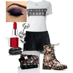 sister by siarai on Polyvore featuring polyvore fashion style Zoe Karssen Chicwish Kenneth Jay Lane Clinique GAMA-GO