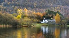 The Lake District is arguably at it's finest during the autumn when the shortening days and cooler temperatures give rise to a blanket of red, orange and gold as the trees prepare themselves for winter. Cumbria, Lake District, England, Trees, Journey, Cottage, River, Autumn, Blanket