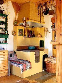 Kachelofen kitchen in Banica, Poland. Photo: Andrzej Pisarski