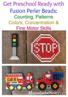 Get Preschool Ready with Fusion Perler Beads! Everything you need: instructions, inspiration, and lists of items needed to play with Perler - and get your child ready for preschool!  Counting, color recognition - so many important skills!
