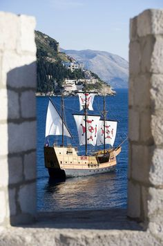 Karaka ship, #Dubrovnik, Croatia