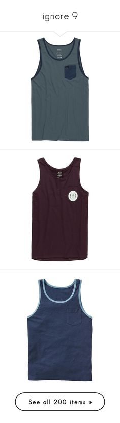 """""""ignore 9"""" by triskid ❤ liked on Polyvore featuring men's fashion, men's clothing, men's shirts, men's tank tops, mens summer shirts, mens tank tops, mens summer tank tops, rvca mens shirts, rvca mens tank tops and mens pocket t shirts"""
