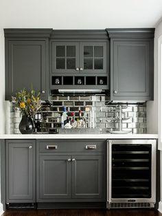 Cabinet Color Backsplash Gray Cabinets Wet Bar Colors For Kitchen