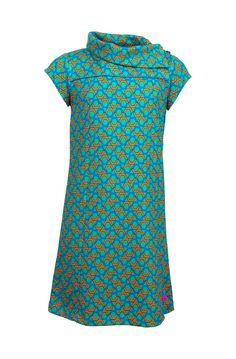 Dress with geometrical print and collar | someone kids