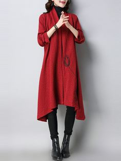 Embroidery Cardigan Chinese Style Mid-calf Coat