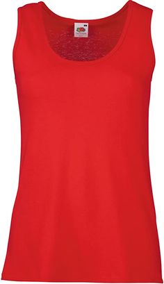 Bekleidung, Damen, Tops, T-Shirts & Blusen, Tops Heather Grey, Lady Fit, Shirt Bluse, Red Fruit, Workout Tank Tops, Fruit Of The Loom, Red S, Couture, Fitness