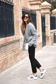 Grey Knit, Adidas Superstar