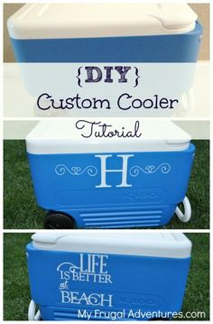 Customize your ice chest or cooler with just a few simple steps. Our ice chest, looks like everyone else's! Vinyl Crafts, Vinyl Projects, Diy Projects To Try, Fun Crafts, Circuit Projects, Project Ideas, Craft Projects, Paper Crafts, Just In Case