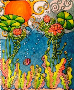 Chapters Indigo, Coloring Books, Art Ideas, Exotic, Ocean, Wood, Artwork, Painting, Bonito