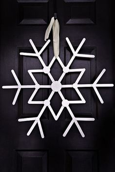 Large Christmas Popsicle Stick Craft, DIY Outdoor Popsicle Stick Ornaments in 2014 Christmas
