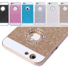 Coque iPhone 6 / 6S paillettes et strass logo Apple - iPhony
