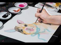 【Cato FriendのHow to Draw】アクリル絵具と墨が織りなす「偶然と必然」 | イラストレーションファイルWebニュース