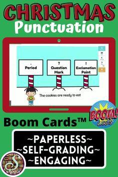Christmas Activites, Question Mark, Holiday Themes, Unique Cards, Google Classroom, Punctuation, Classroom Activities, Second Grade, Sentences