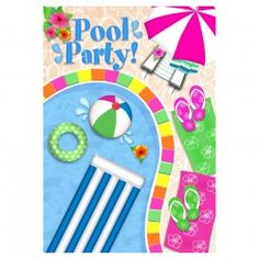 Summer Day Welcome Flag - Pool Party