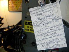 letterpress + calligraphy :)