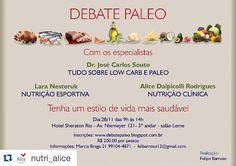 Vamos? #Repost @nutri_alice with @repostapp.  Pessoal não percam esse evento! Fala sério: Dr. Souto (muso) Lara Nesteruk (clone do muso de saia) minhas amadas paleonutrisirmãs e meus amados paleoamigosirmãos no Rio de Janeiro!?!?!?! Vai estar sensacional. Só paleo faz isso por vc. Vem pra paleo vc tbm! #PaleoUne #OMelhorDaPaleoSaoAsPessoas #NutricaoDiferenciada #TeamNutriAlice #NutriAlice #RJ #Paleo #PaleoDiet #DietaPaleo #ComaPaleo #EuSouPaleo #LetBrazilGoPaleo #IPALEO #LowCarb #LCHF…