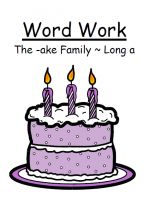 The -ake Family Long a Phonics Center Game Word Work / Spelling
