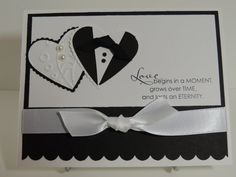 "Stampin Up! ""Love begins in a moment"" Handmade Wedding Card"