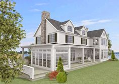 Outdoor Bedroom, Outdoor Rooms, New England Hus, Colonial House Exteriors, Home Fashion, Modern Farmhouse, House Design, Architecture, House Styles