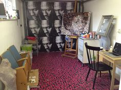 Proud to present my new work spot.. The officiale GabyGaby art studio..