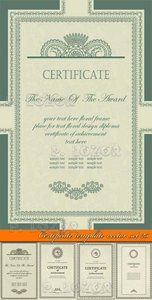 European pattern certificate template 02 vector ideas para el certificate template vector set 25 yelopaper Images