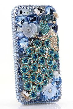 Aqua Peacock Case cover Design for Cute cool protective iPhone 5 5s 5c cases bling for girls vintage phone covers accessories!! http://luxaddiction.com/collections/3d-designs/products/aqua-peacock-design-style-481