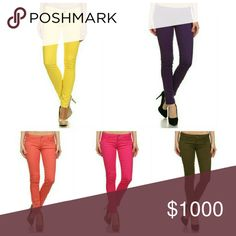 **Coming Soon** Complements any outfit!!!  Color Yellow Purple Coral Pink Olive Jeans Skinny