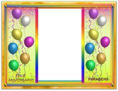Gutierrez Artes Diversas: MOLDURAS PARA FOTOS DE ANIVERSÁRIOS ... Good Morning Wishes, Scrap, Frame, Decor, Anniversary Pictures, Happy Birthday Photos, Borders And Frames, Cards, Positive Messages