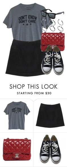 """Sin título #11897"" by vany-alvarado ❤ liked on Polyvore featuring Monki, Chanel, Converse, Ray-Ban and ASOS"